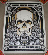 QUEENS OF THE STONE AGE Nine Inch Nails concert gig poster SYDNEY 3-7-14 2014