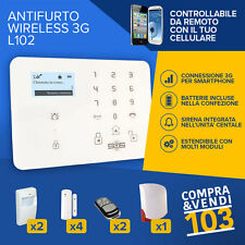 SISTEMA ANTIFURTO ALLARME CASA KIT WIRELESS SENZA FILI GSM TOUCHSCREEN SOS 3G
