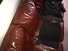 Ted Baker black lined suit jacket and skirt UK size 8