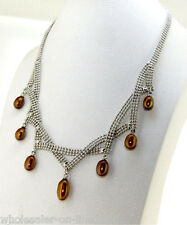 Charming!7-9MM Coffee Akoya pearl pendant necklace 17''