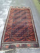 Antique Persian Baluchi Rug With Both Ends Kilim