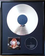 """Cher The Greatest Hits gerahmte CD Cover +12"""" Vinyl goldene/platin Schallplatte"""