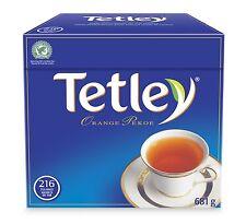TETLEY UNITED KINGDOM ORANGE PEKOE BLACK TEA  -216 TEA BAGS