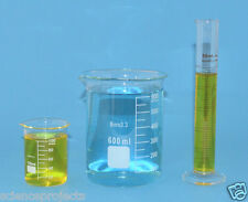 Beaker set 600mL 100mL Cylinder 50mL Borosilicate Glass Griffin Lab New beakers