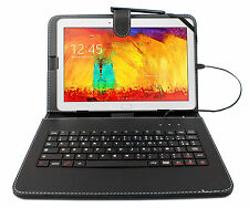 AZERTY Case Cover With Keyboard For Samsung Galaxy Note 10.1 & Tab 4 10.1""