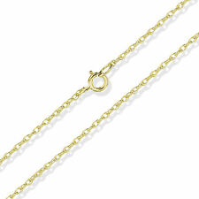 375 9CT YELLOW GOLD 16 ENGLISH ROPE PRINCE OF WALES POW CHAIN PENDANT NECKLACE