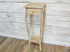 Teak plant stand tall plant stand with drawer ready to finish