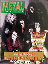 METAL SHOCK 65 1990 Death SS Gamma Ray Soundgarden Junkyard Fates Warning SADO