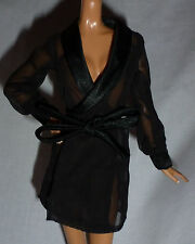 *LINGERIE ~ JAZZ BABY DIVA MODEL MUSE BLACK SHEER ROBE BARBIE DOLL CLOTHING ITEM