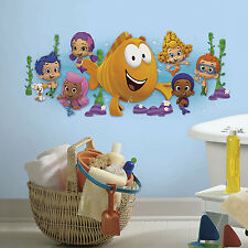 Giant BUBBLE GUPPIES WALL DECAL Kids Bedroom Bathroom Stickers Decor RMK2774GM