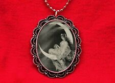 MOON GODDESS FAIRY PIN UP VINTAGE PENDANT NECKLACE