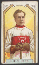 1911-12 C55 IMPERIAL TOBACCO #32 RILEY HERN GOALIE 1st NHL STANLEY CUP CHAMPION
