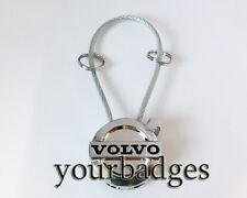 Nuevo Metal Cromo Volvo con Cable LLAVERO KEYRING