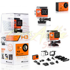 MIDLAND VIDEOCAMERA ACTION CAM H3 HD 2016 + SCHERMO LCD MOTO PISTA NAKED