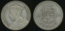 Fiji, Republic British Administration, 1934 Florin, George V (Silver) -Very Fine