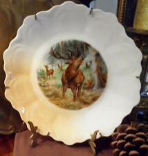 """PUNCH ZS & Co Bavaria GAME Cabinet Plate 12-Point Buck Scene Porcelain 9"""""""