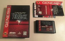 Beware The Ultimate Evil Of Warlock Sega Genesis Complete!