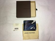 LOUIS VUITTON Slender Wallet Camoflage Blue Limited Edition NWT New M61748