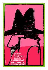 Cuban movie Poster 4 film DANUBE Delta.Pink Detective.En el Delta del Danubio