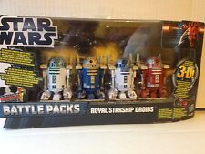 STAR WARS Battle Packs ROYAL STARSHIP DROIDS With R2-D2,R2-R9,R2-N9 and R2-B1