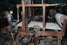801040 Weaving Silk Using Primitive Loom Danang Central Vietnam A4 Photo Print
