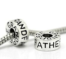 Grandfather Grand-Pere Family Ring Bead for Silver European Style Charm Bracelet