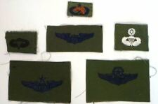 MILITARAIA : SET OF USAF PARATROOPER PATCHES - POSSIBLY FROM VIETNAM. REF: C146