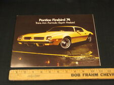 1974 Pontiac Firebird Trans Am Sales Brochure CDN