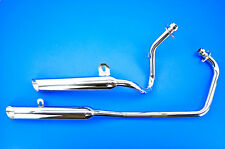 88-13 Yamaha XV250 Jardine Rumblers 2-2 Chrome Exhaust Slash-Cut  14-2921-01