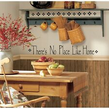 New Black THERES NO PLACE LIKE HOME WALL DECALS Quotes Home Stickers Room Decor