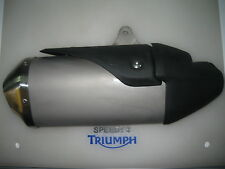 TRIUMPH SPEED TRIPLE /R RIGHT HAND EXHAUST  BLACK SHIELD P/N T2207352