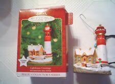 VINTAGE 2000 HALLMARK KEEPSAKE SERIES LIGHTHOUSE GREETINGS  CHRISTMAS ORNAMENT