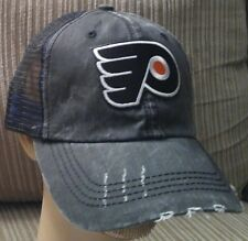 Philadelphia Flyers Baseball Cap Cotton Mesh Distressed Trucker Hat