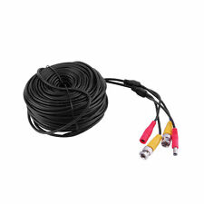Black 30m BNC CCTV Video Power Cable CCD Security Camera Cable DVR Wire Cord UL
