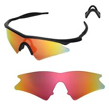 WL Polarized Fire Red Replacement Lenses For Oakley M Frame Sweep Sunglasses