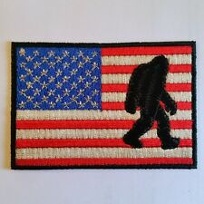 BIGFOOT SASQUATCH USA Flag Embroidered Patch Embellishment Iron on & Sew
