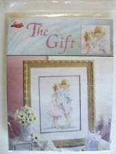 The Gift Cross Stitch Kit Children Kiss Lanarte #3476 Leisure Arts 2003