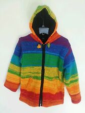 KS1 KIDS WOOLEN SWEATER NEPAL : Handmade Hooded Zipped Fleece Lined Jacket XL