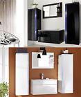 5tlg Badmöbel Set HOCHGLANZ +Waschbecken +Spiegel LED Gäste WC Badezimmer DREAM