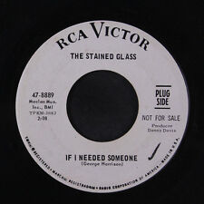 STAINED GLASS: If I Needed Someone / How Do You Expect Me 45 (dj, sm wol, disc