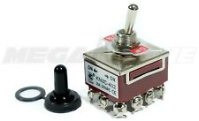 Heavy Duty 20A/125V 4PDT ON-ON Toggle Switch w/Waterproof Boot... USA SELLER!!!
