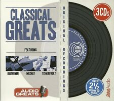 CLASSICAL GREATS - 3 CD BOX SET - BEETHOVEN * MOZART & TCHAIKOVSKY