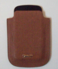 Light Brown Leather Mobile Phone Case Faint Snake Skin Pattern New & Unused