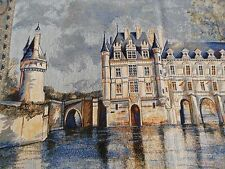 "Flemish Tapestry of the Chateau de Chenonceau in France. .27""high and 34"" wide."