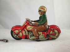Schuco 1000 Motorcycle works, key, US Zone Germany, Wind up Toy Vintage Antique