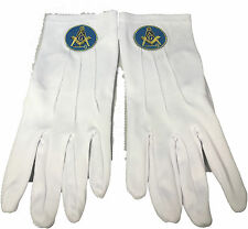 International Masons White Gloves with Symbol-New!