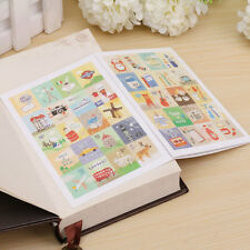 2 Sheets 160pcs Stamp Stickers Assorted for Diary Scrapbook Diary Calendar Decor