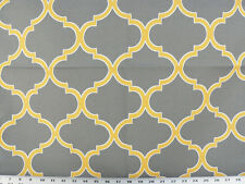 Drapery Upholstery Fabric Indoor/Outdoor Traditional Design - Yellow/White/Gray