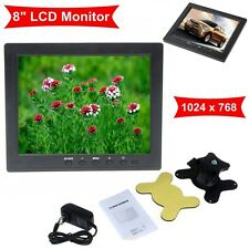 "HD 8"" TFT LCD Color Monitor 1204*768 VGA BNC Video Audio For PC,CCTV Cam,VCD,DVD"