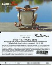TIM HORTONS MAN AT THE LAKE MINT GIFT CARD FRENCH ONLY FROM CANADA